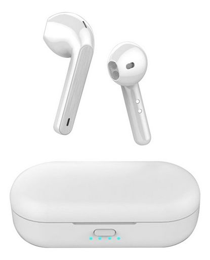 Bluetooth 5.0 Earbuds And Charging Case With Touch Control White