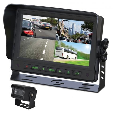7 Inch Gator AHD Commercial Grade Dash Mount Quad Display Reverse Camera Kit GT704HD