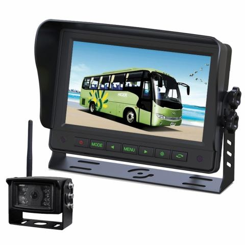 7 Inch Gator Wireless Commercial Grade Dash Mount Display Reverse Camera Kit GT700W2