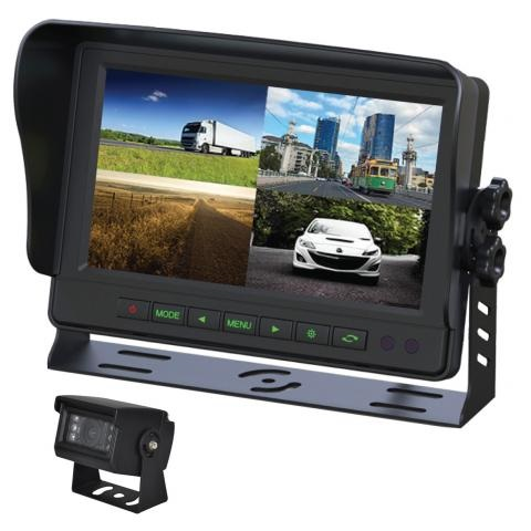 9 Inch Gator Commercial Grade Dash Mount Quad Display Reverse Camera Kit GT904SD