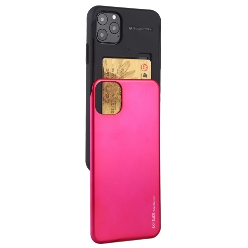 Goospery Slide Bumper Case For iPhone 12 And iPhone 12 Pro Rose Red