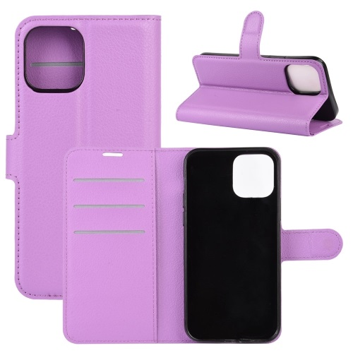 Wallet Case Black For iPhone 12 And iPhone 12 Pro Purple
