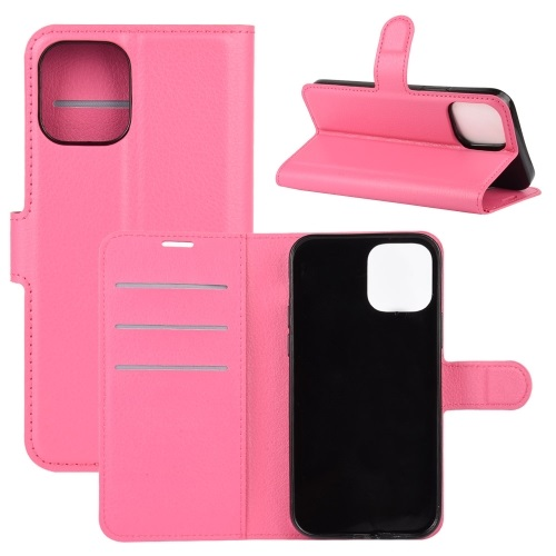 Wallet Case Black For iPhone 12 And iPhone 12 Pro Rose Red