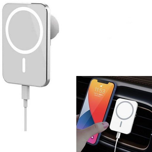 Vent Magnetic Mount Phone Holder With 15W Qi Wireless Charger