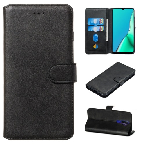 Oppo A5 2020 PU Leather Case Black