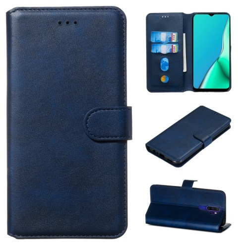 Oppo A5 2020 PU Leather Case Blue