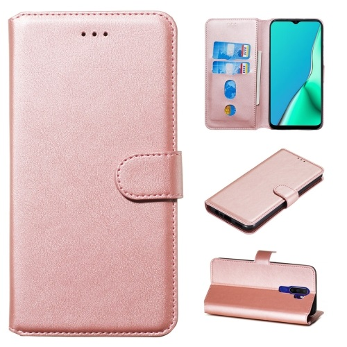 Oppo A5 2020 PU Leather Case Rose Gold