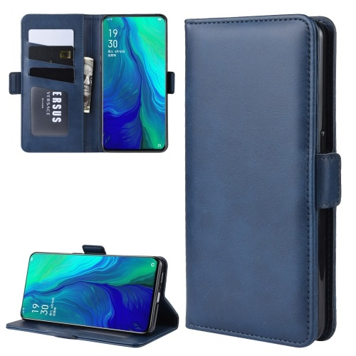 Oppo Reno 5G PU Leather Case Blue