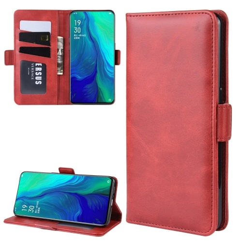 Oppo Reno 5G PU Leather Case Red
