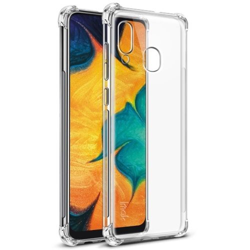 Samsung Galaxy A20 Tough TPU Case Clear With Screen Protector