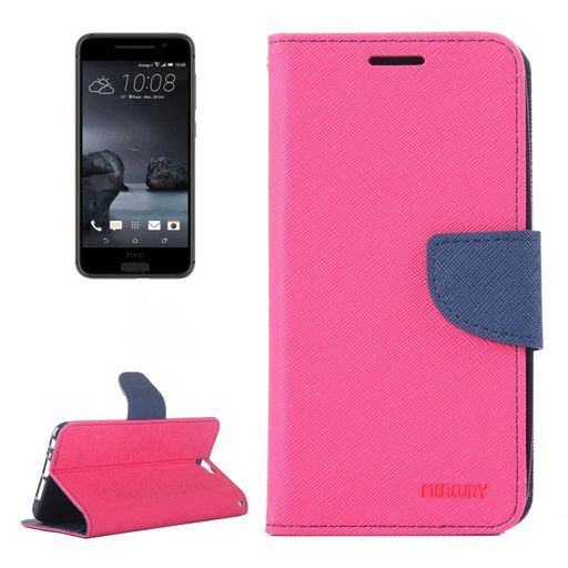Telstra Signature Premium PU Leather Wallet Case Hot Pink